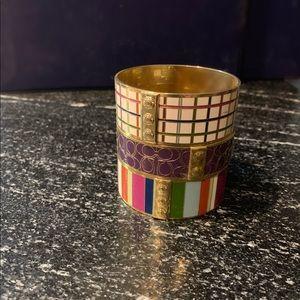 1of3 Coach enameled bangle bracelet lmtd edition